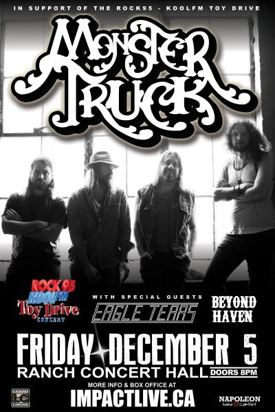MONSTER TRUCK Rock95 Toy Drive Concert Party!