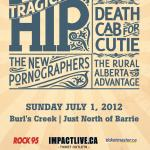 IMPACT LIVE Joins Forces w/ GOLDENVOICE (AEG LIVE) Bringing You  THE TRAGICALLY HIP CANADA DAY AT BURL'S CREEK!