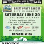 IMPACT LIVE Warms Up The Tragically HIP Canada Day Weekend With  ROCK95 ROCK STOCK Campground Concert Line-Up At Burl's Creek!