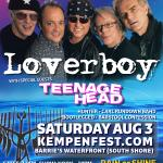 LOVERBOY & Teenage Head Live @ Kempenfest 2019