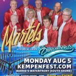 THE MARTELS & Dreamboats Live @ Kempenfest 2019