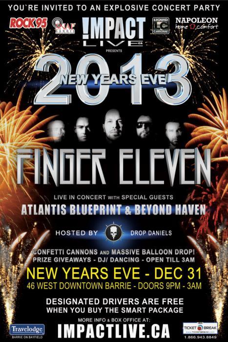 Finger eleven headlines new years eve 2013 malvernweather Images