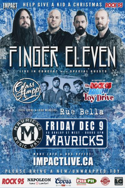 FINGER ELEVEN Christmas Concert Party In Support Of The Rock95-Koolfm Toy Drive!