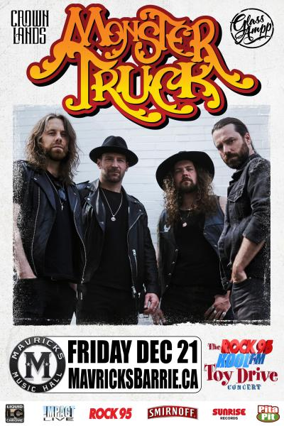 MONSTER TRUCK Rock95 Toy Drive Christmas Benefit Concert Party!