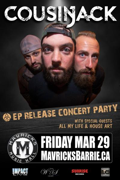 COUSIN JACK Debut EP Release Concert Party!