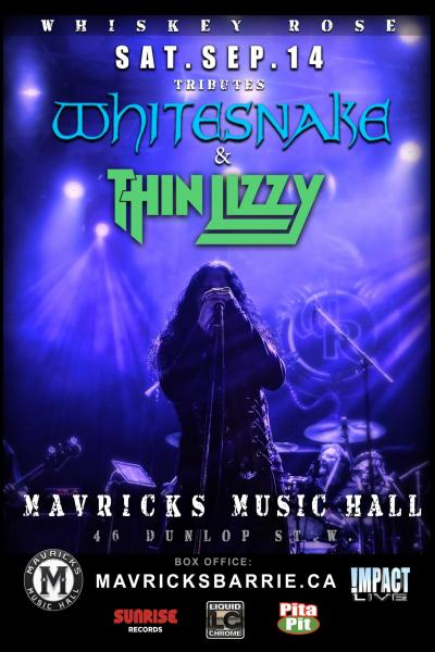 The Best Of WHITESNAKE & THIN LIZZY w/ Special Guests REBEL FEW
