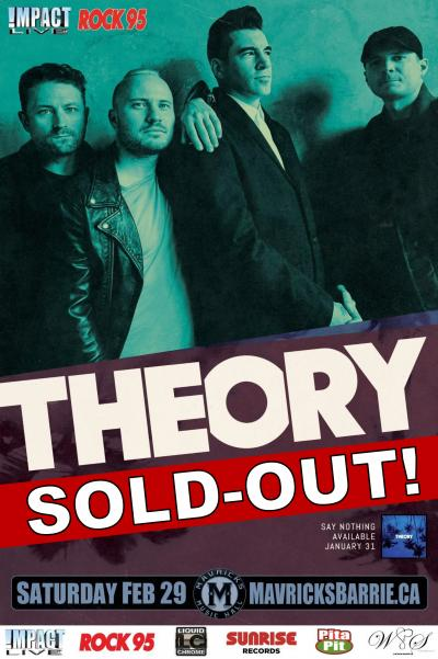 "Rock95 Presents THEORY ""Say Nothing World Tour"""