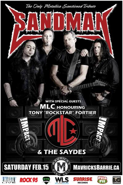 SANDMAN, The Only Metallica Sanctioned Tribute w/ MLC & The Saydes